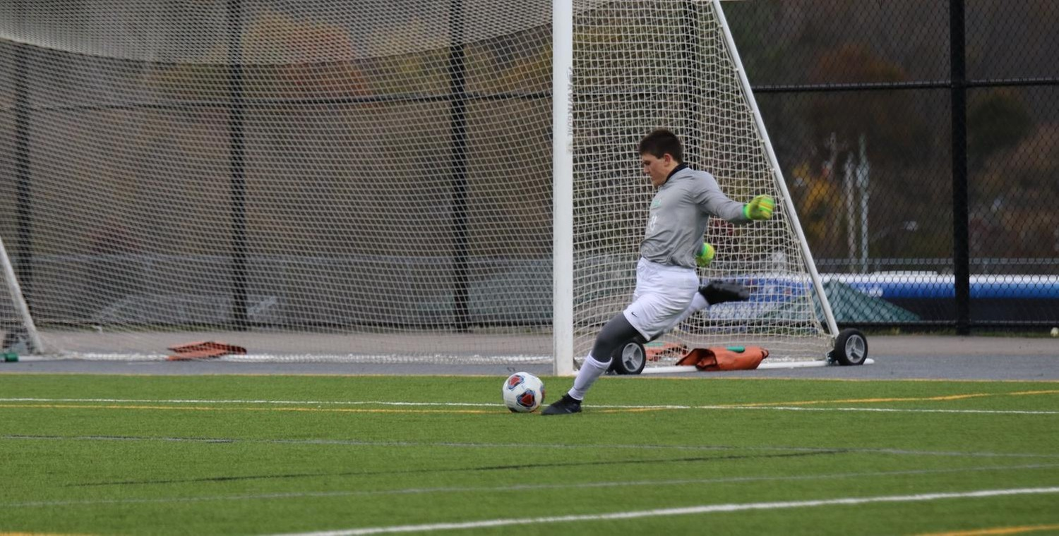 Ryan Mavretish (0) made five saves for Keuka College on Saturday