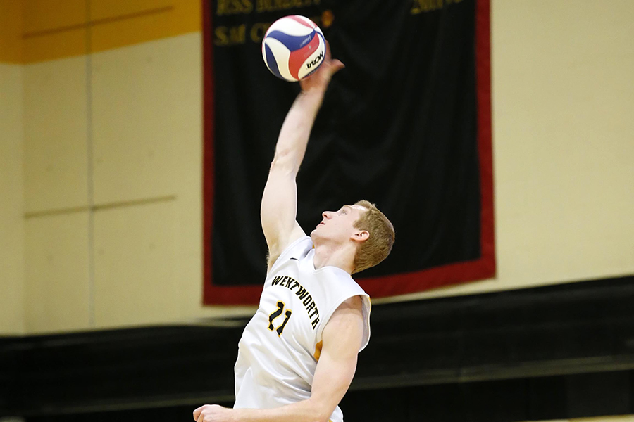 Lasell Outlasts Men's Volleyball
