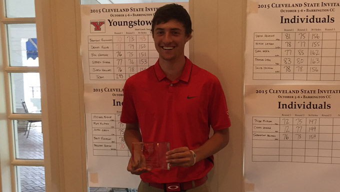 Brandon Pluchinsky took medalist honors at Cleveland State.
