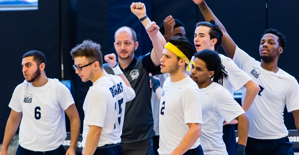 Men's Volleyball Outlasts Medgar Evers to Pick Up First Win