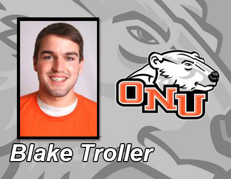 Blake Troller named Academic All-OAC in Men's Tennis