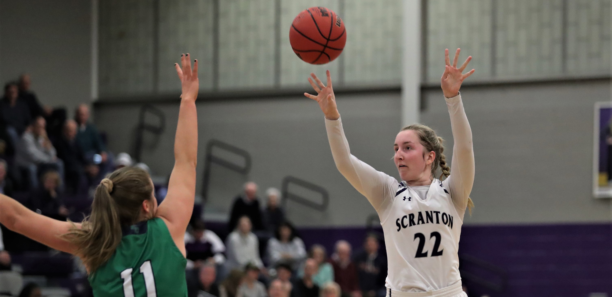 Senior Makenzie Mason had 12 points and nine rebounds in Friday's NCAA Tournament First Round game versus Endicott. © Photo by Timothy R. Dougherty / doubleeaglephotography.com