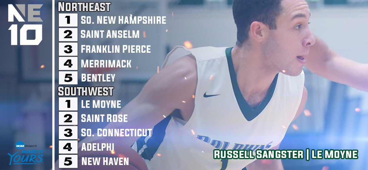Le Moyne and Southern New Hampshire Earn #1 Seeds for NE10 Men's Basketball Championship