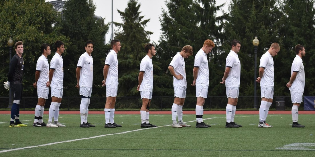 Men's Soccer Closes GNAC Action with 2-0 Loss at Norwich