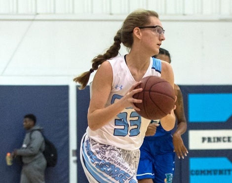 Seifert's Double-Double Lifts Prince George's Women's Basketball Past Cumberland County, 51-48