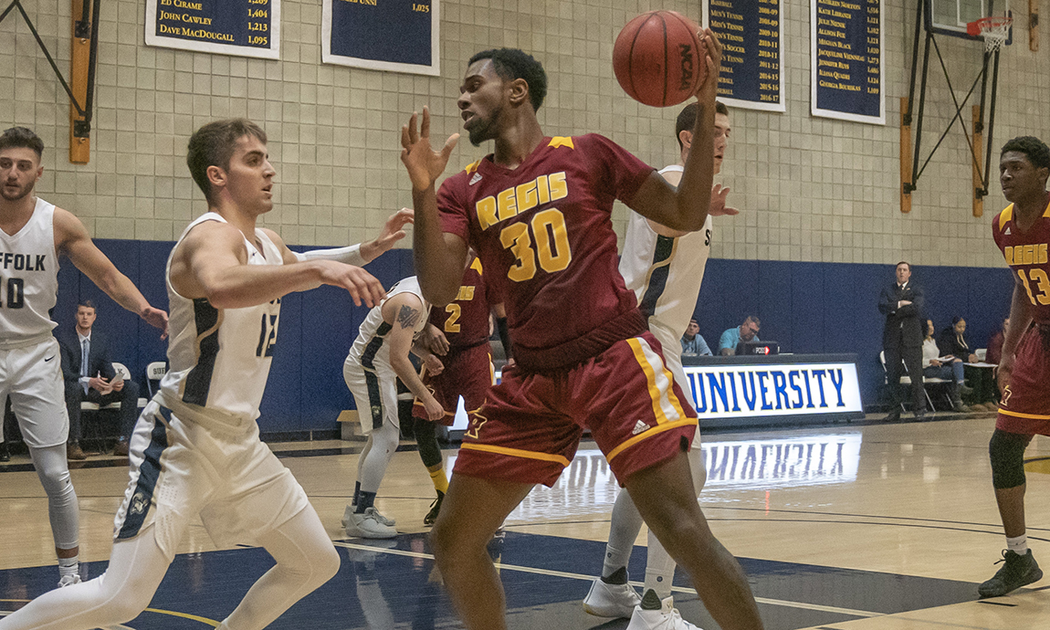 Regis Receives Team Effort in GNAC Victory over Lasell