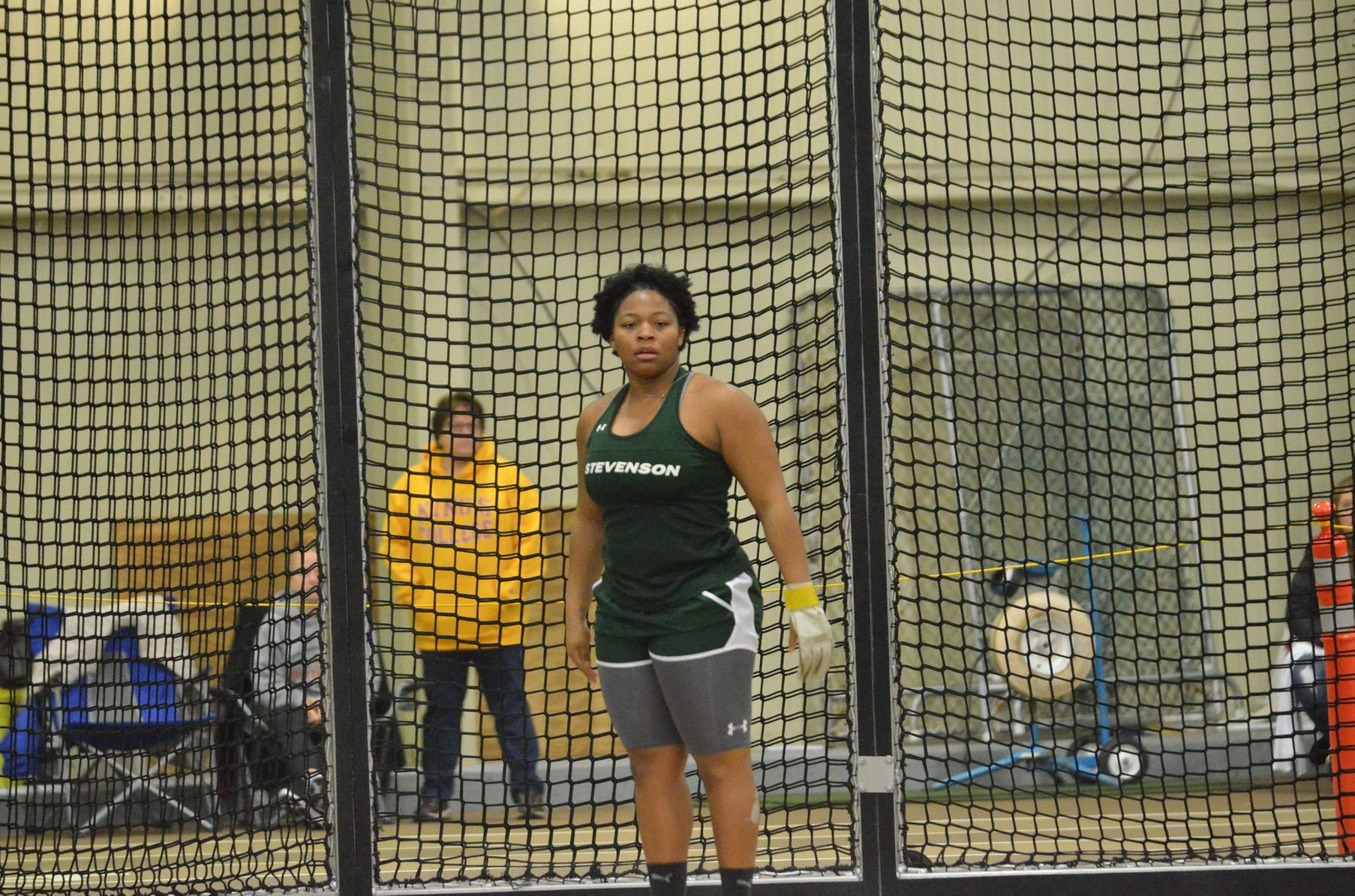 Ani Wins Shot Put, Mustangs Second After Day One of ECAC's