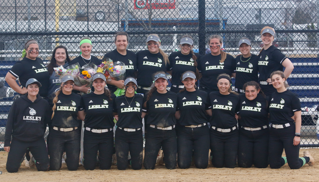 Lesley Score 19 Runs and Allow Just Three Hits in Senior Day Sweep of Newbury
