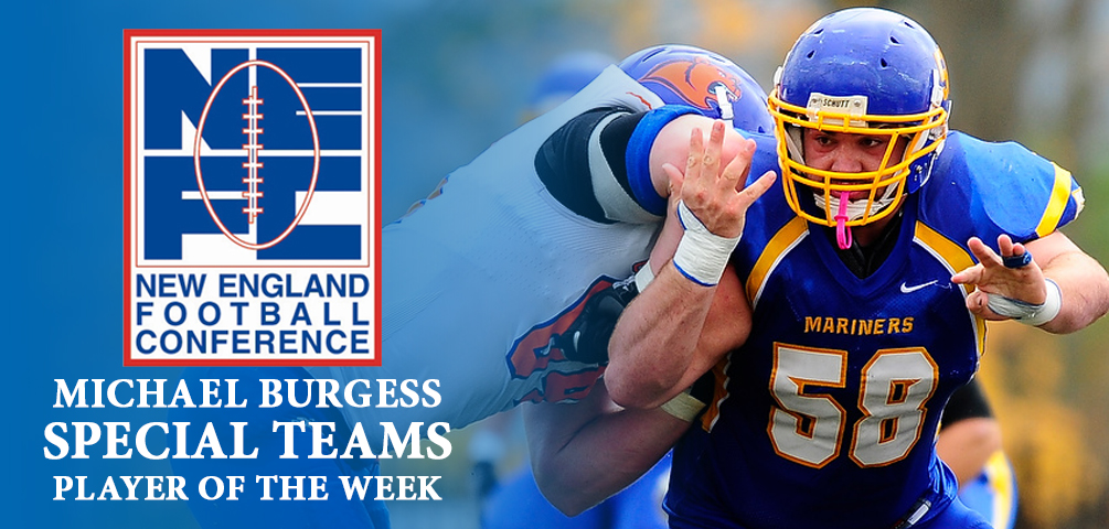 Burgess Named NEFC Special Teams Player of the Week