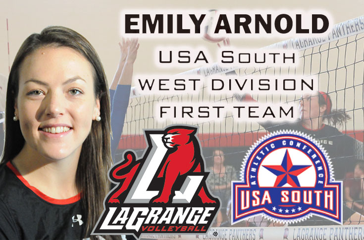 Volleyball: Emily Arnold selected to USA South West Division first team