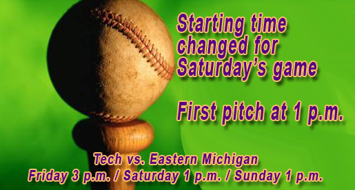 Saturday's baseball game moved back one hour to 1 p.m. starting time