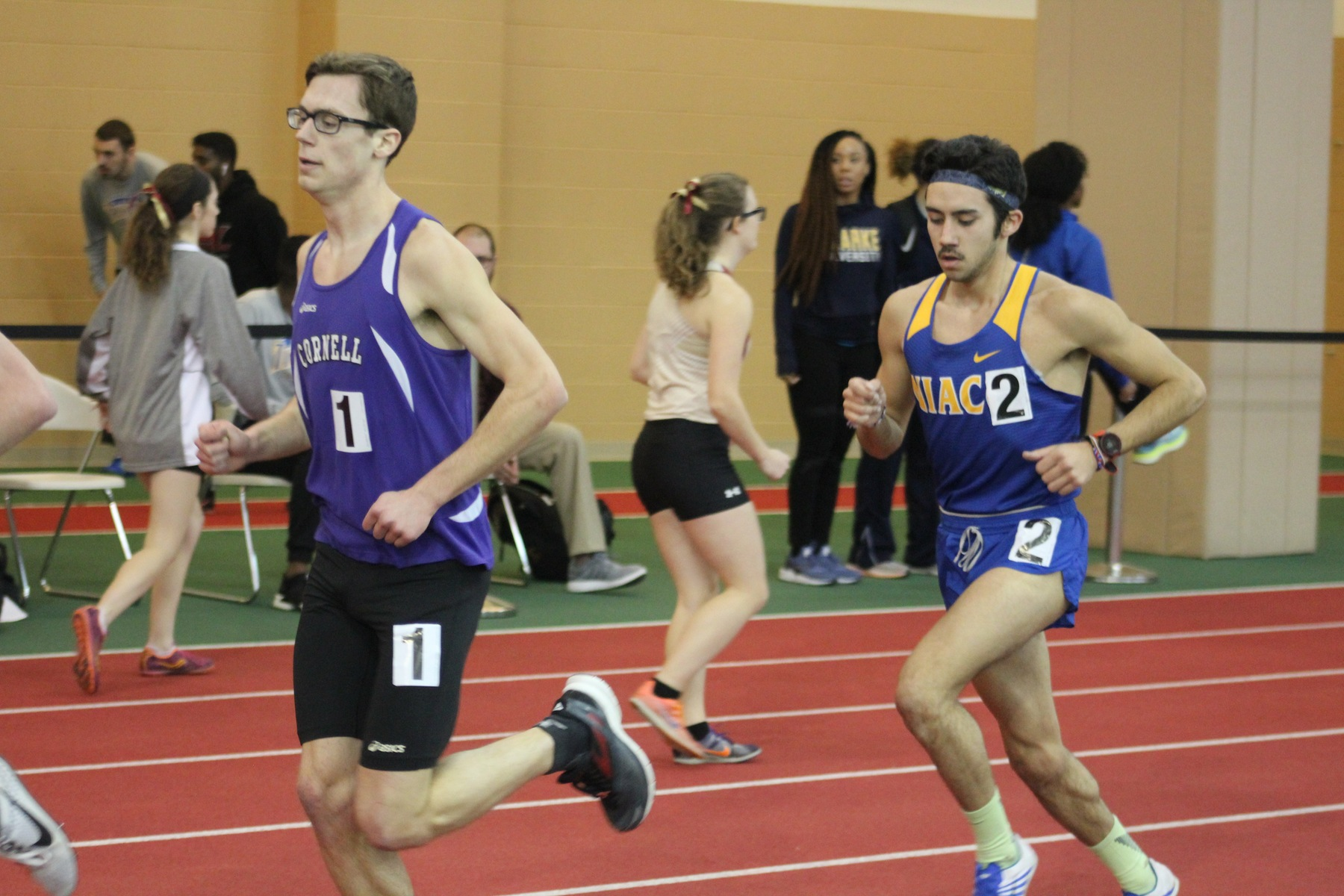 NIACC's Brian Jacques runs to a second-place finish in the 5,000-meter run at the Grinnell Invitational on Saturday.