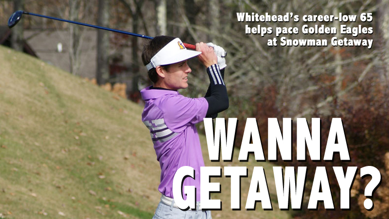 Whitehead's second-round 65 paces Golden Eagles at Snowman Getaway