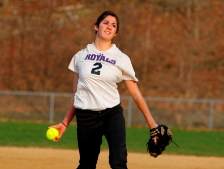 Senior pitcher Christine Capalbo picked up her 13th win of the season in Scranton's 7-3 win in the first game of a doubleheader at Wilkes on Wednesday.
