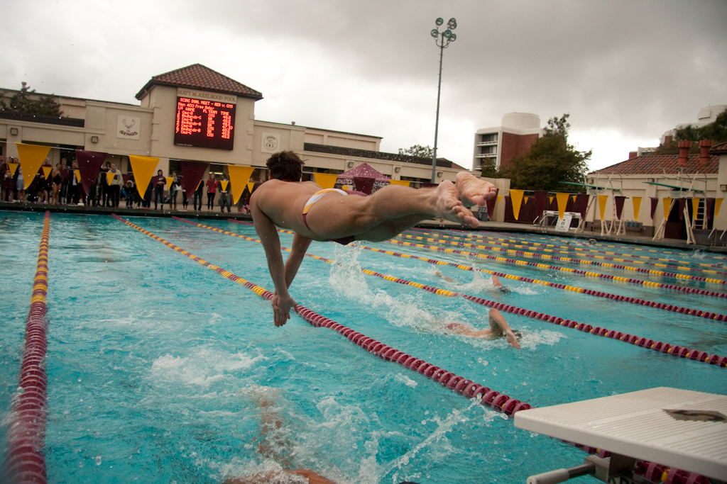 Stags Edged By Bulldogs In Exciting Dual Meet Competition