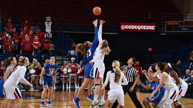 Blue Devils Topped at Duquesne, 83-58, Saturday