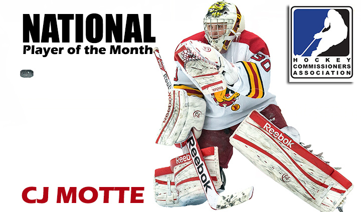 Ferris State's CJ Motte Chosen As National College Hockey Player Of The Month