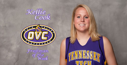 Kellie Cook named OVC Freshman of the Week