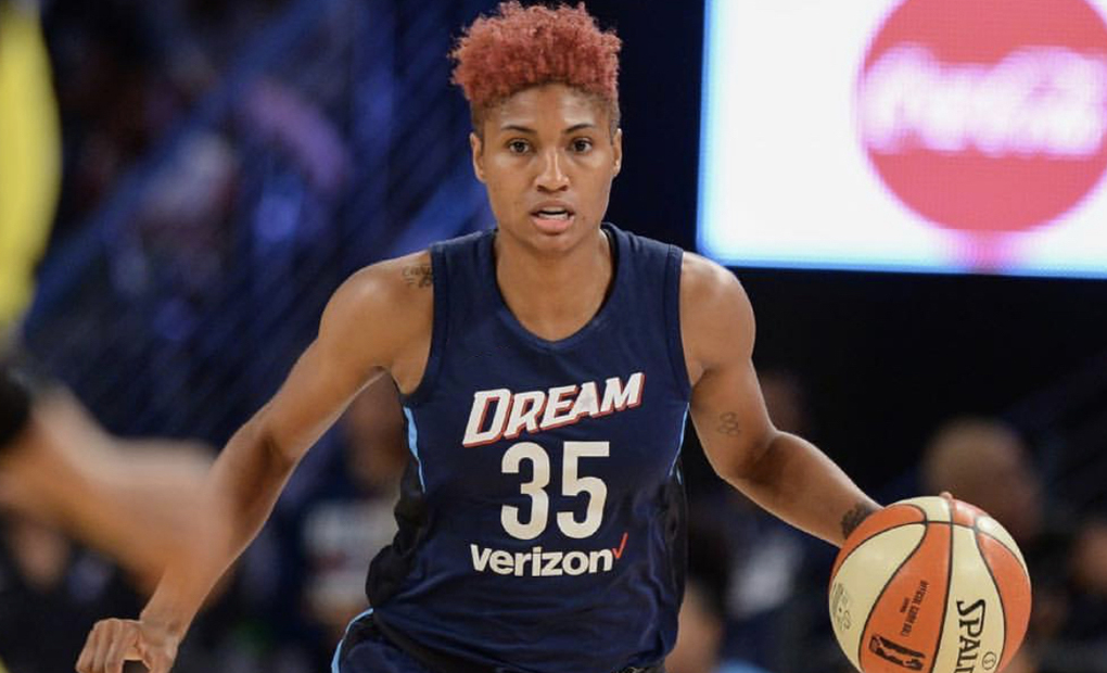 Atlanta Dream All-Star Angel McCoughtry A Featured Guest At Emory - Brandeis WBB Game