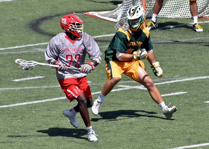 Kendrick Ballard scored three goals, including the game-winning goal with 41 seconds left, in a 7-6 win over Methodist.