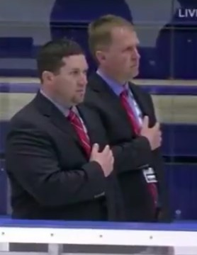DCB Assistant Coach Corey Gorder (left), and former Assistan Coach and player David Hoff at the Para Ice Hockey Championships in the Czech republic this past weekend.