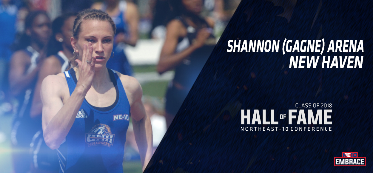 NE10 Hall of Fame Inductee: Shannon (Gagne) Arena, New Haven Track & Field