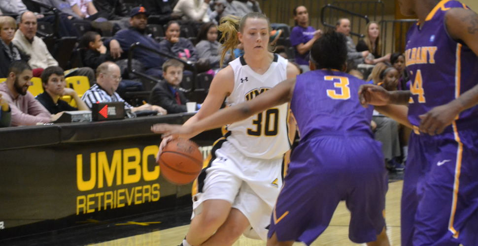 Women's Basketball Falls Shorts Versus Albany, 56-46; Tarbert Scores 23 Points