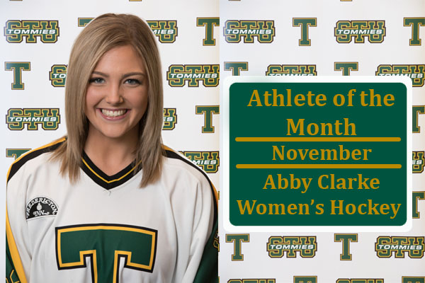 Coastal Graphics Athlete of the Month for November: Abby Clarke, Women's Hockey