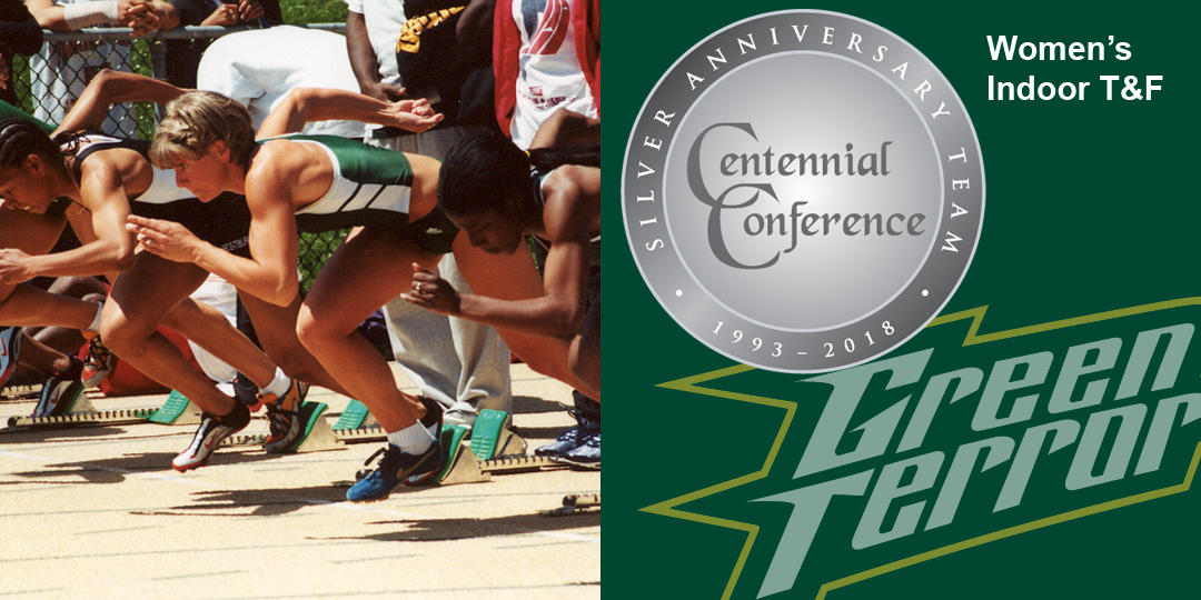 Jamie Falcone makes the Centennial Conference Silver Anniversary Team for women's indoor track and field.