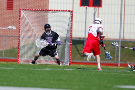 Senior goalie Ben Worthington made 13 saves in the Royals' 9-3 season-opening victory over Farmingdale State on Saturday.