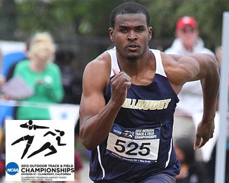 Gallaudet's Darius Flowers places 9th at NCAA Division III outdoor track and field championships