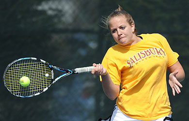 Salisbury tennis teams sweep Wesley in final match before CAC tournament