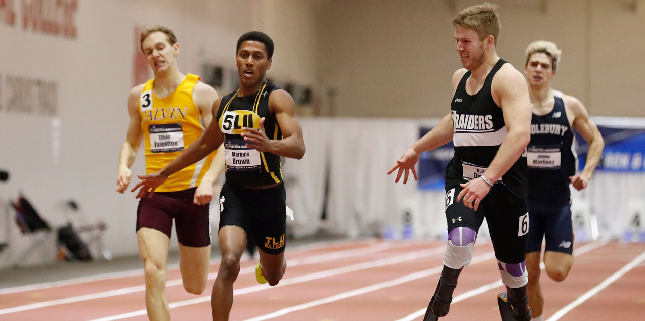 Brown's National Championship Highlights Big Day for SCAC at NCAA D3 Indoor T&F Championships