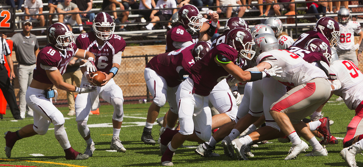 Second-Half Rally Pushes Football Past WPI, 28-23, In Liberty League Opener