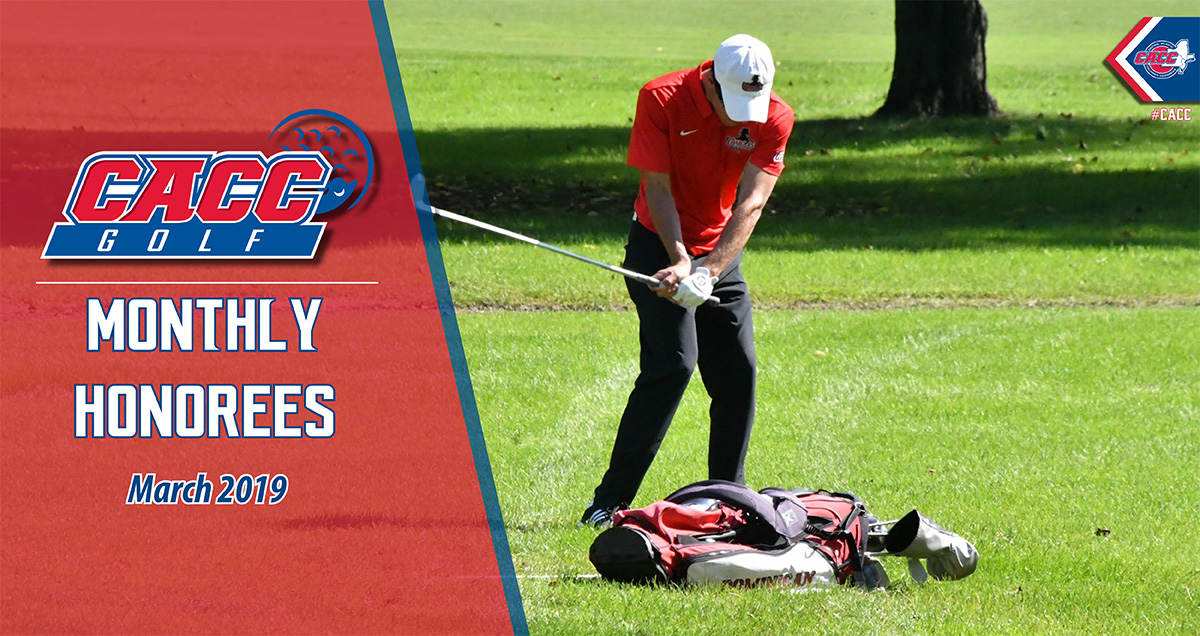 CACC Men's Golf Monthly Honorees (March 2019)