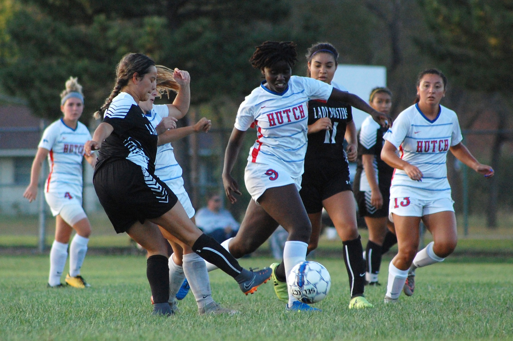 Naomi Waithira comes of a one-goal, two-assist game against Hesston on Saturday. The Blue Dragons play host to Dodge City on Wednesday at the SSC. (Bre Rogers/Blue Dragon Sports Information)