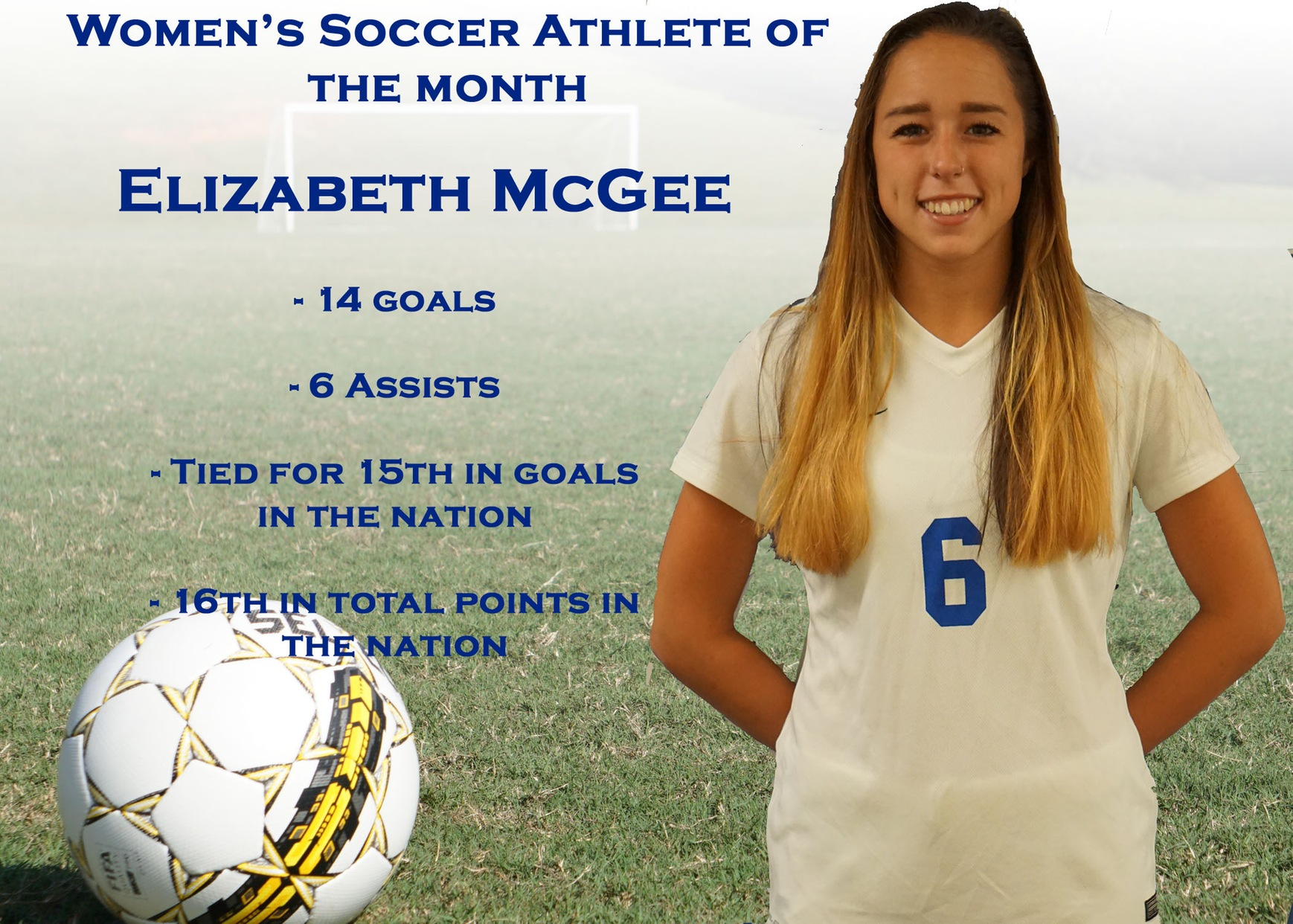 Women's Soccer Athlete of the Month