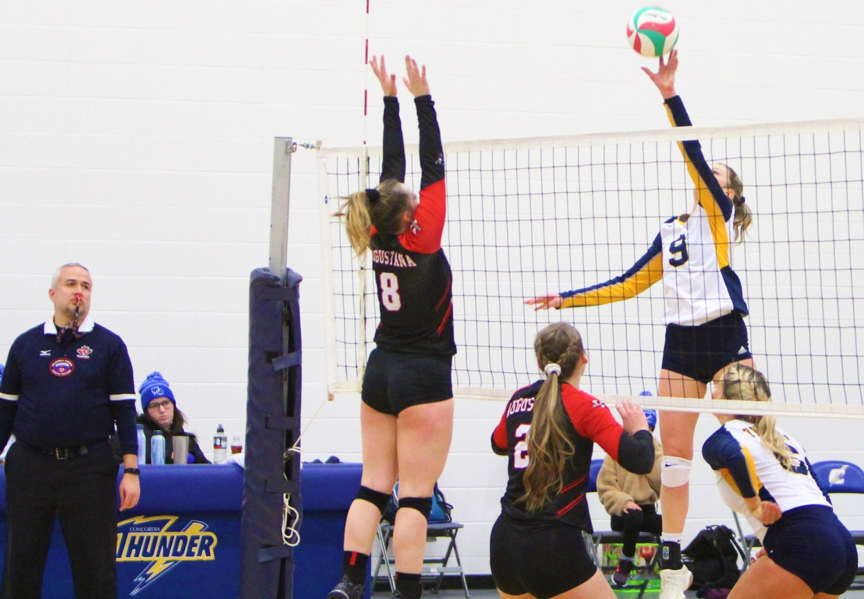Thunder Fall In Four Sets To The Vikings