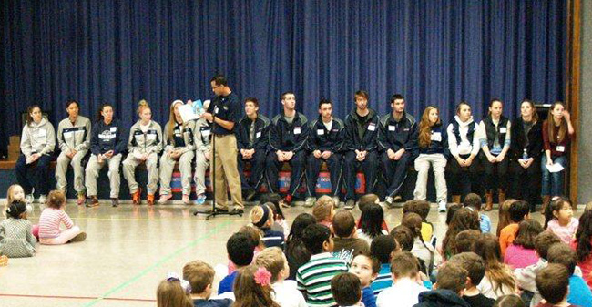 Moravian student-athletes participate in Read Across America