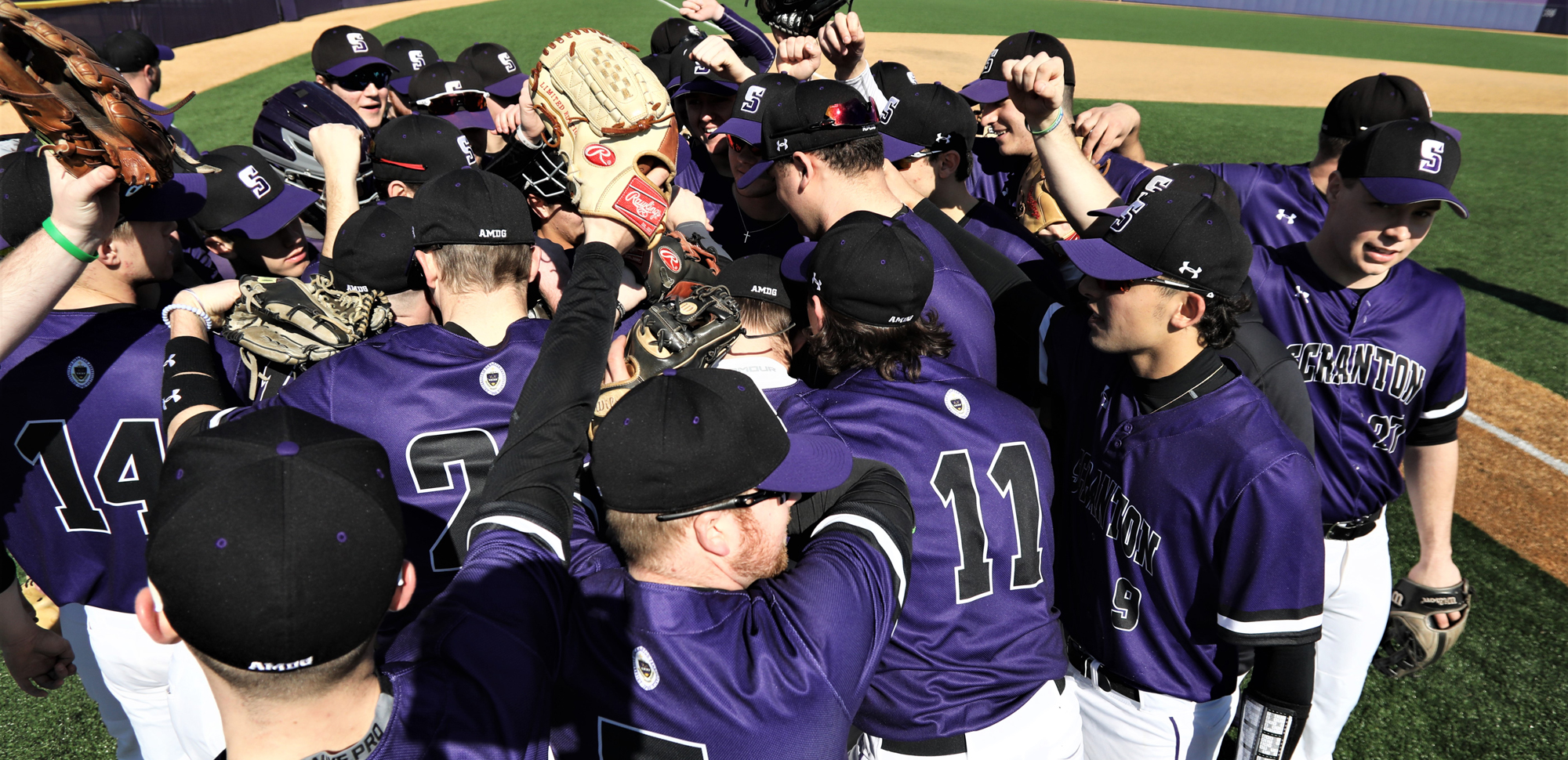 The University of Scranton baseball team featured six seniors that captured 60 victories in the last three plus seasons and made two Landmark Conference Playoff appearances. © Photo by Timothy R. Dougherty / doubleeaglephotography.com
