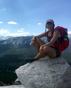 Kelsey Ruehling '16 in Yosemite National Park