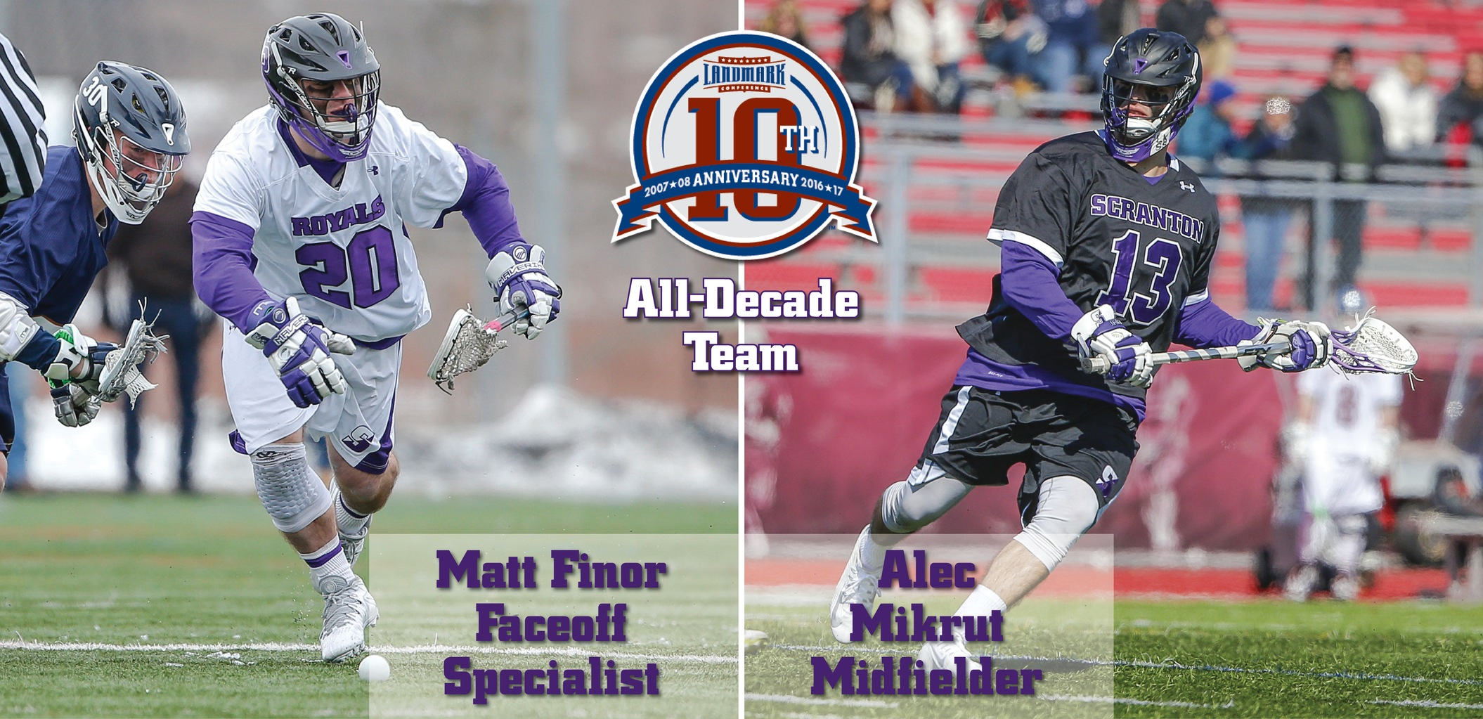 Finor, Mikrut Named To Landmark Conference Men's Lacrosse All-Decade Team