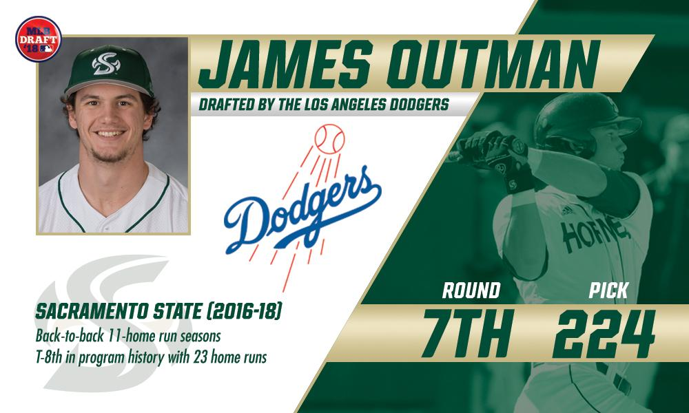 JAMES OUTMAN SELECTED BY THE LOS ANGELES DODGERS IN THE 7TH ROUND OF THE 2018 MLB DRAFT