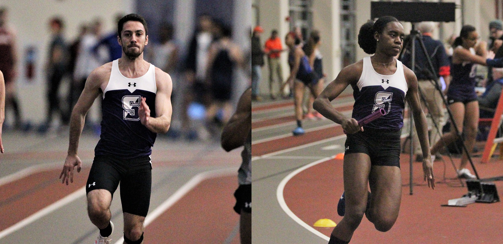 Mark Merli and AnnMarie Onwuka enter Saturday's Landmark Conference Indoor Championships ranked in the top-five in their respective events.