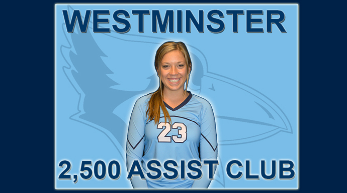 Reeg Joins Westminster's 2,500 Assist Club