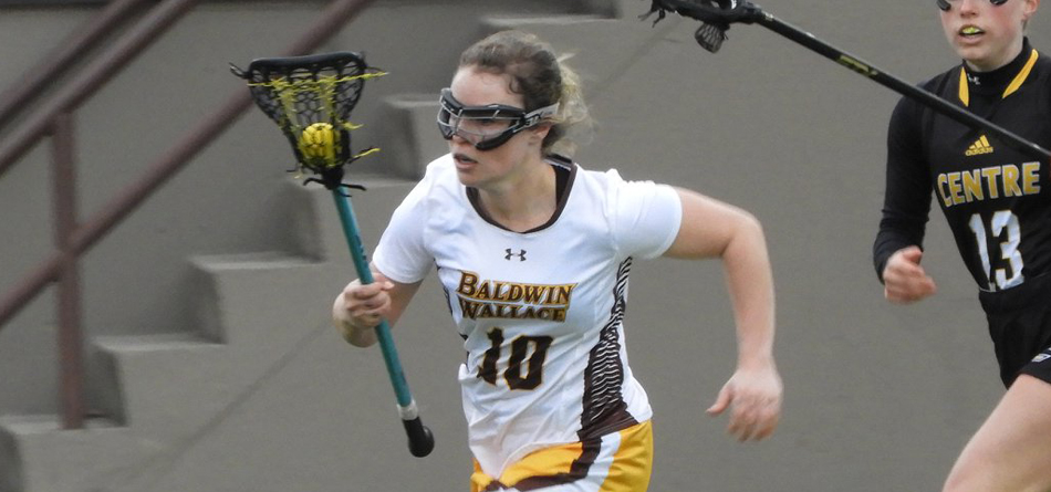Senior two-time All-OAC midfielder Megan Patrick was the only multi-goal scorer in BW's 12-6 loss to Occidental (Photo courtesy of Lori Moran)