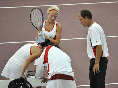 Women's Tennis Rolls Past Findlay At Home