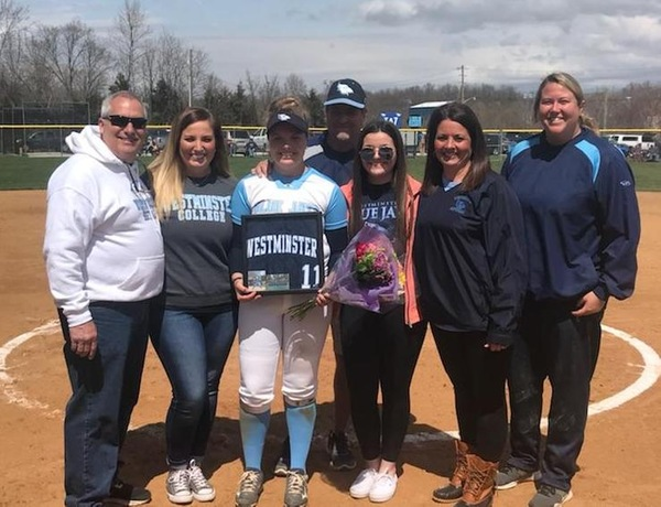 Price Perfect Game, Tepen Walkoff Highlight Westminster Softball Senior Day