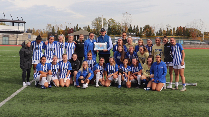 D'Arcy Wins 200th Career Game, Blue Devils Roll to 5-2 Home Victory Over Robert Morris