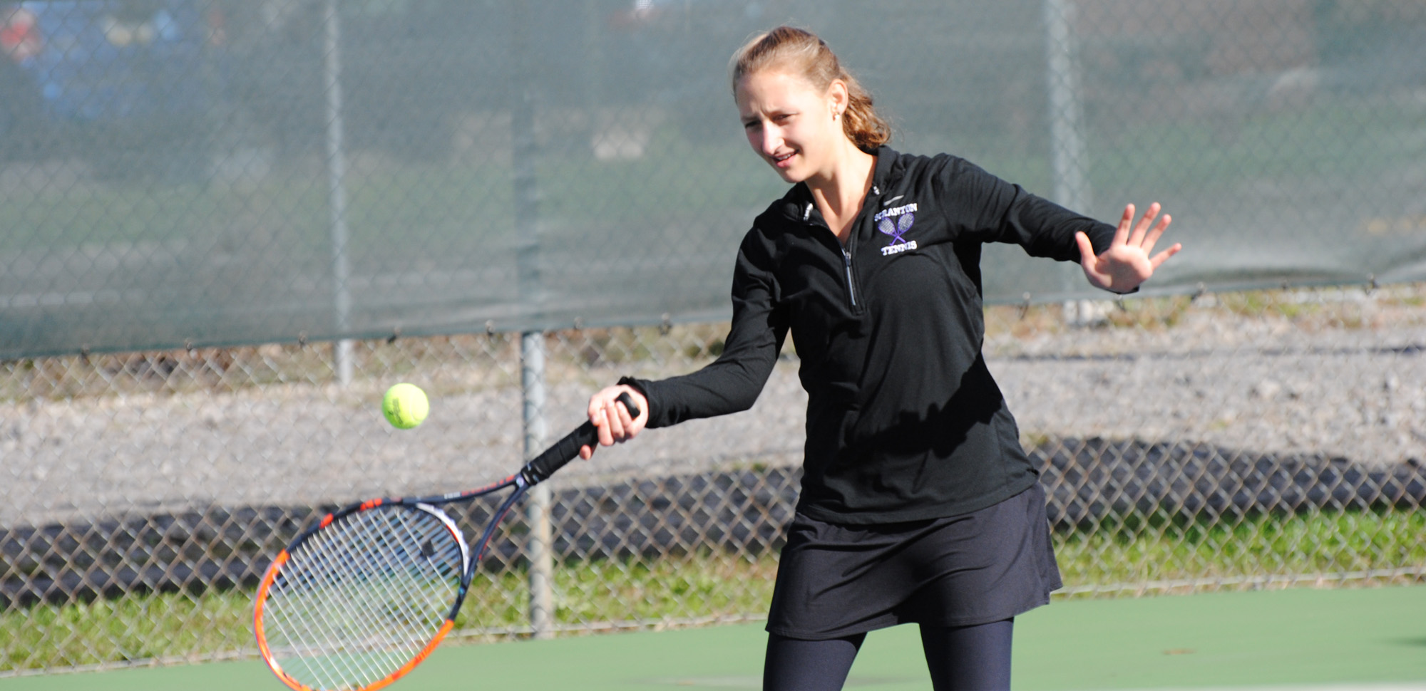 Nastashia DeNuzio won a pair of matches on Friday as the Royals won the final match of their fall schedule against Lebanon Valley.